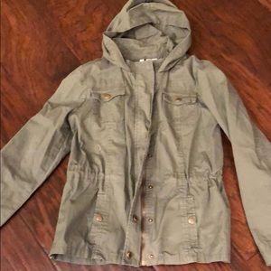 Tilly's Full Tilt xl girls cargo jacket Olive